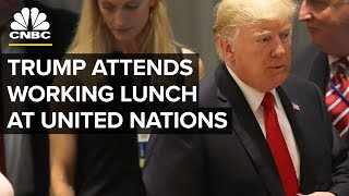 LIVE: President Trump Attends Luncheon at the UN - Sept. 25, 2018