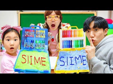 보람이와 또치의 선생님 몰래 슬라임 만들기 HOW TO MAKE SLIME IN SCHOOL