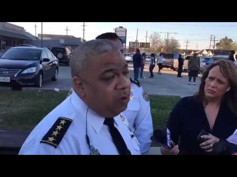New Orleans Police Chief Michael Harrison on the triple shooting in Gert Town