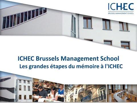 Les grandes étapes du mémoire à l'ICHEC