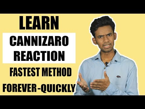 SUPER TRICK TO LEARN ORGANIC CHEMISTRY REACTIONS | CANNIZZARO REACTION | Hindi thumbnail