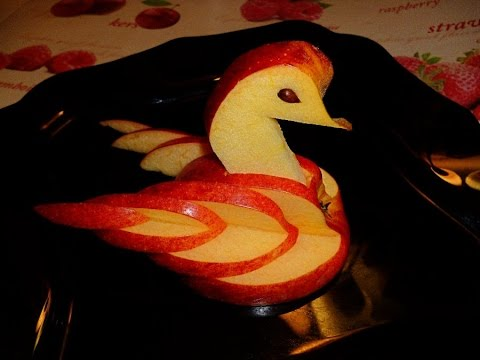 How To Make Apple Bird Fruit Carving Apple Carving Fruit