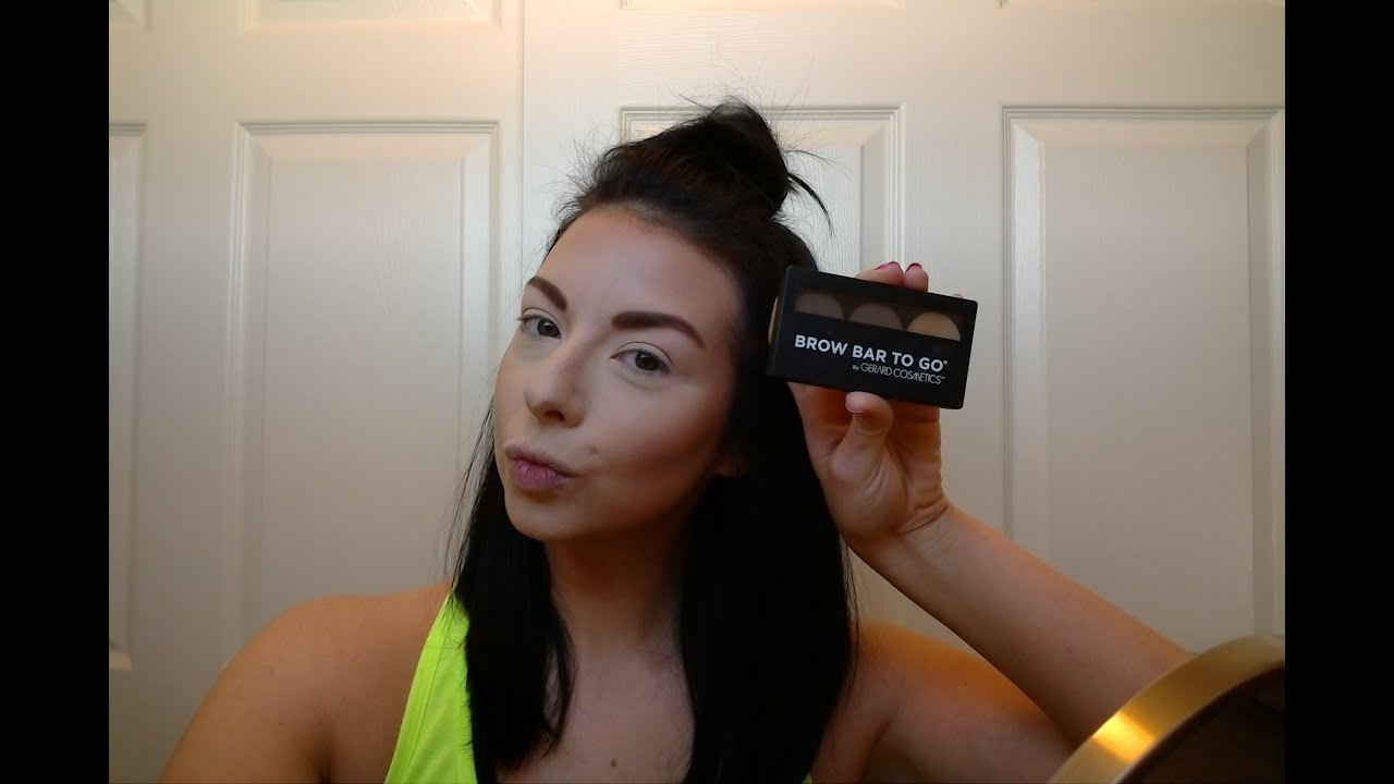 BROW BAR TO GO REVIEW (GERARD COSMETICS) - YouTube