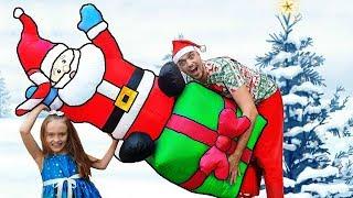 Funny Nastya Juega con papa noel - Christmas gifts story| giants Toys| funny story about a Santa
