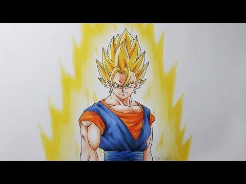 Drawing Vegito Super Saiyan
