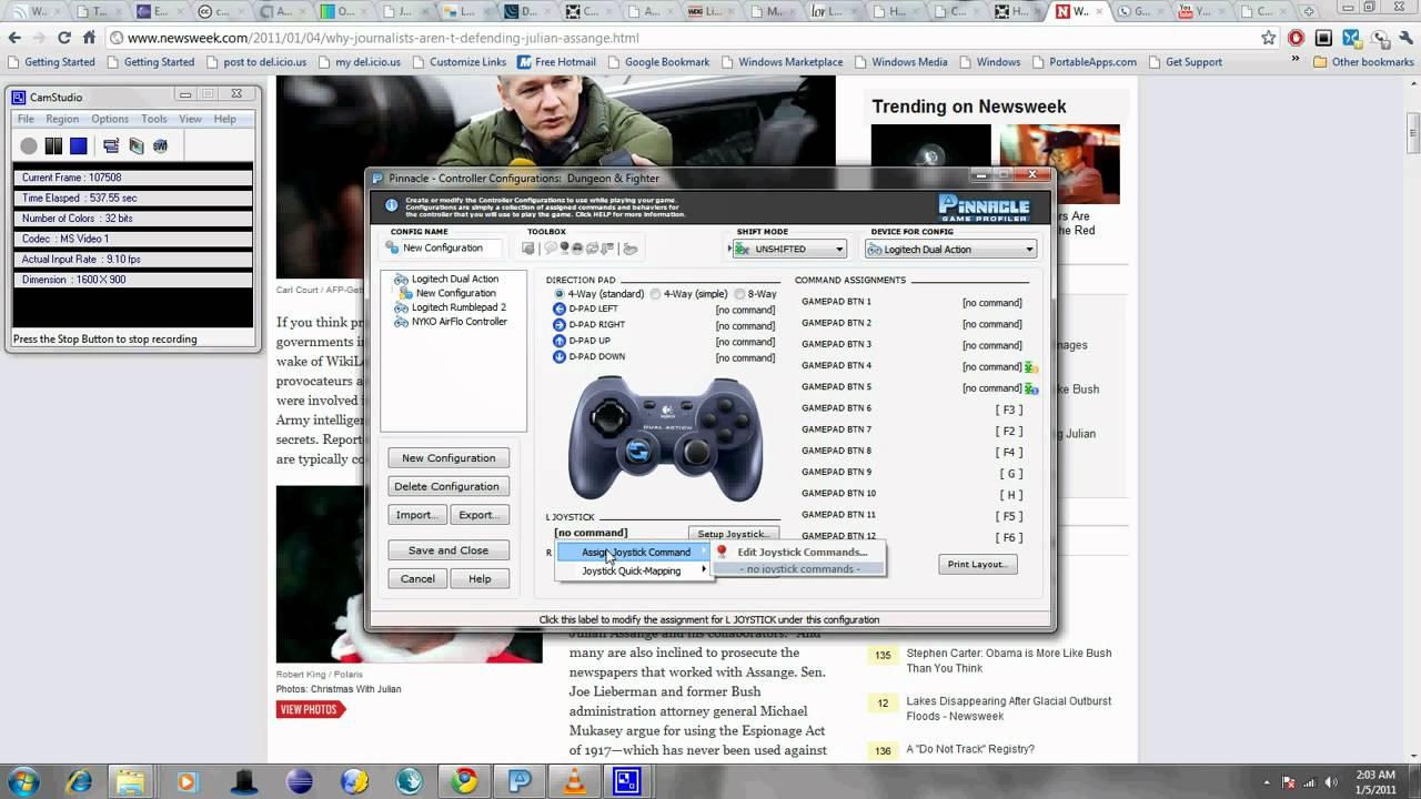 pinnacle game profiler 2 controllers