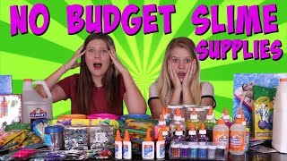 NO BUDGET SLIME SHOPPING CHALLENGE || Taylor and Vanessa