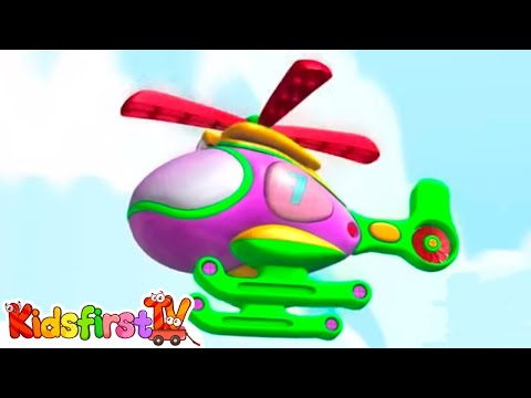 Learn numbers with Zeem Zoom helicopter. Animation.