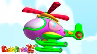 Kids Cartoons in 3D animation: Learn to Count: 7 Flying Helicopters! {飞行的直升机积木}