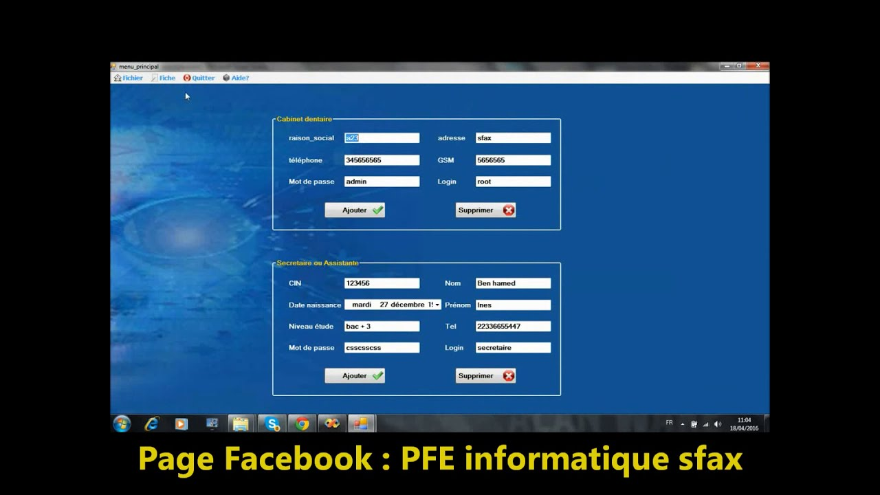 Application Gestion Cabinet Dentaire