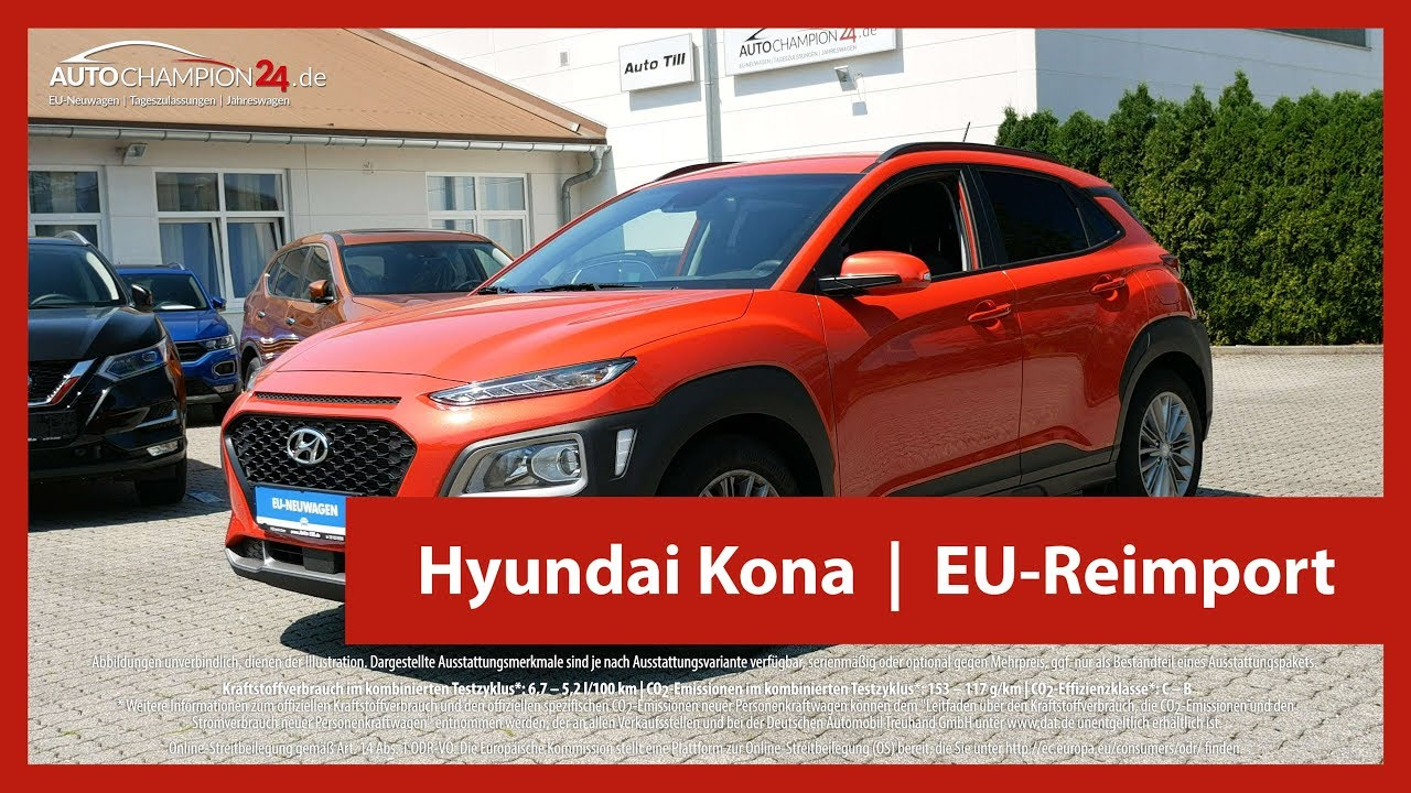 hyundai kona reimport eu neuwagen 4k uhd autochampion24 youtube. Black Bedroom Furniture Sets. Home Design Ideas