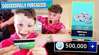 Kid Spends £500 on FORTNITE with Brother