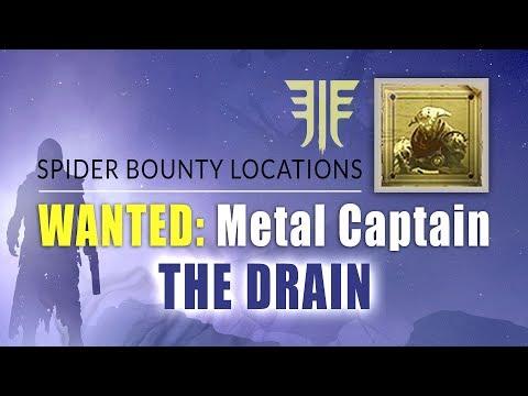 "METAL CAPTAIN Bounty Location in ""The Drain"" | Destiny 2 Forsaken - Spider Bounty Locaions"