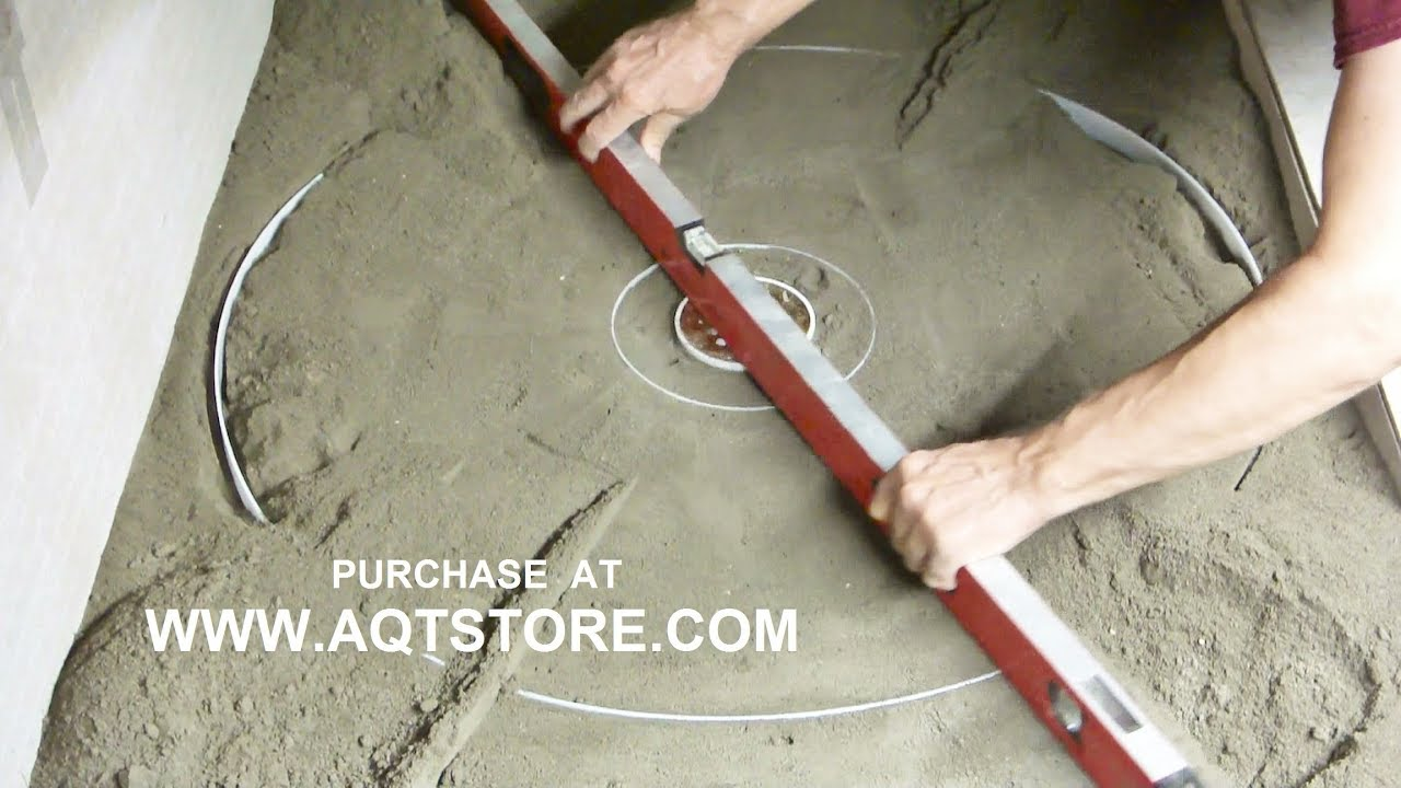Shower Floor Mud Forming Device MRcp Video 1. Time Lapsed.