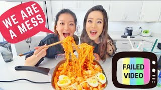 Korean Spicy Rice Cakes Mukbang + Recipe | Eating Show