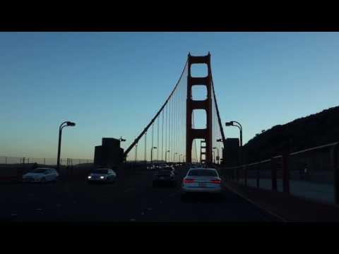 Проезжаем мост Золотые Ворота в США, Сан Франциско / Golden Gate bridge in San Francisco