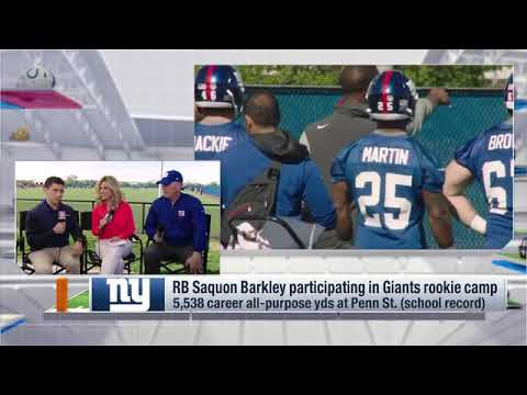 Insider Live Giants First Day of Rookie Minicamp
