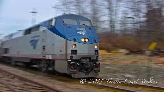 FAST AMTRAK DOWNEASTER TRAINS !!!