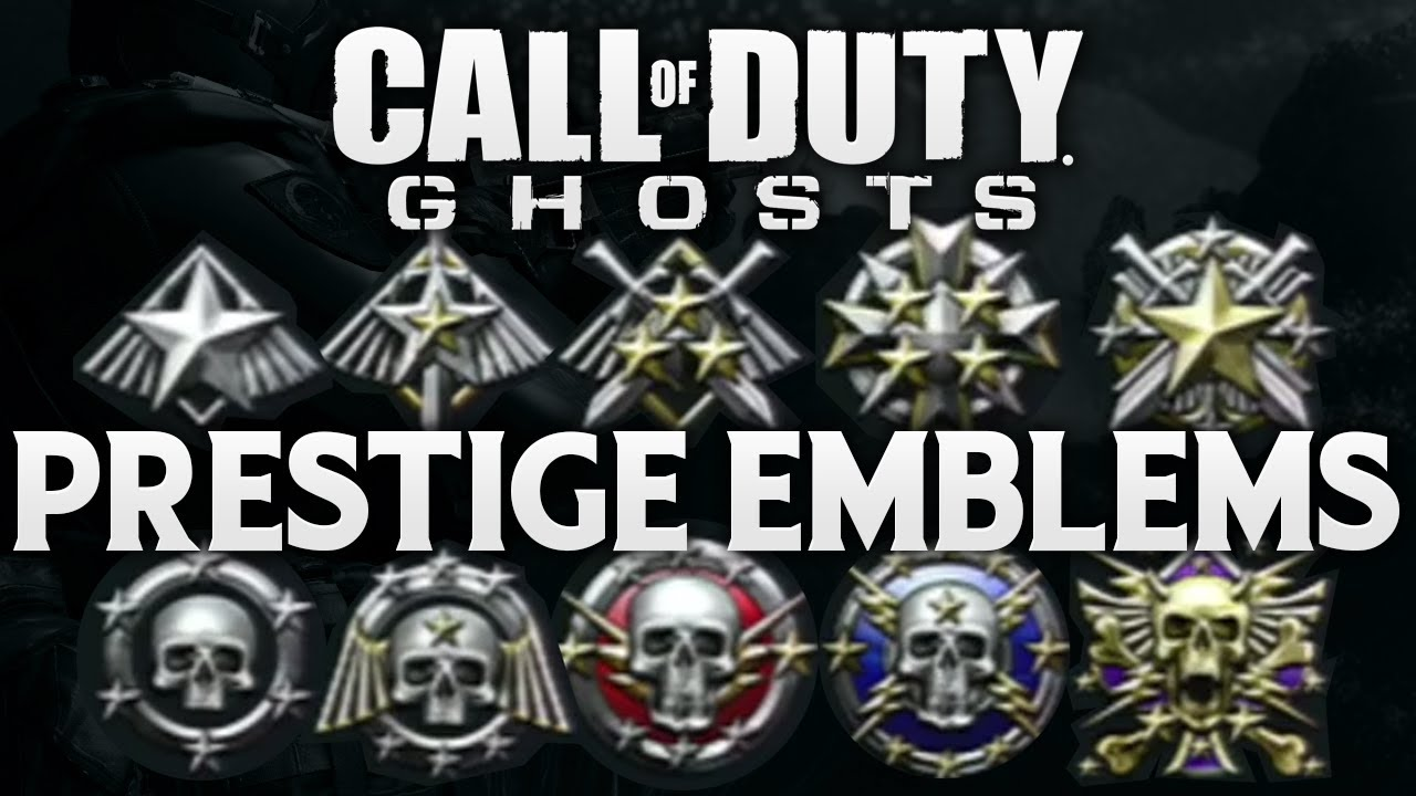 Call Of Duty Ghosts All 10 Prestige Emblems Multiplayer Emblem
