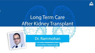 Avoid strenuous lifting for at least 6-8 weeks after your kidney transplant. in this video, dr. rammohan s bhat, consultant - nephrology narayana health c...