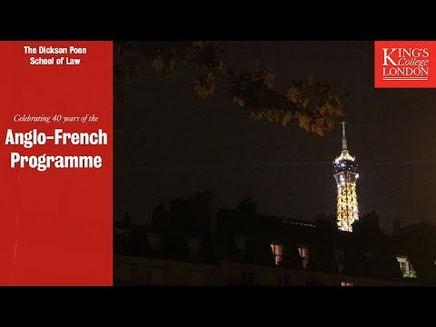 The Anglo-French Law programme celebrates its 40th anniversary
