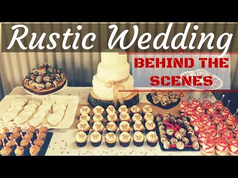 Rustic Farm Wedding Cake & Dessert Table - Behind the Scenes - SnuggleMuffin