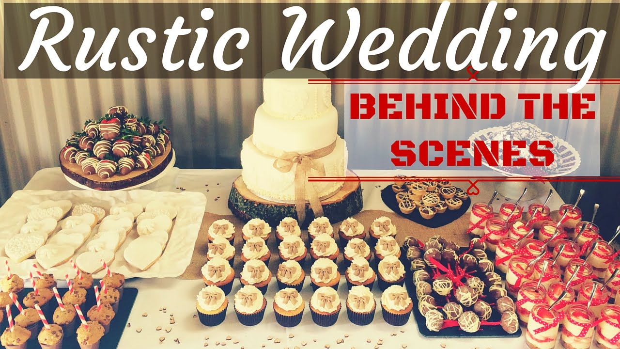 Rustic Farm Wedding Cake & Dessert Table - Behind the Scenes ...