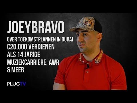 JoeyBravo over toekomstplannen in Dubai, €20.000 verdienen als 14-jarige, Muziekcarrière, AWR & Meer