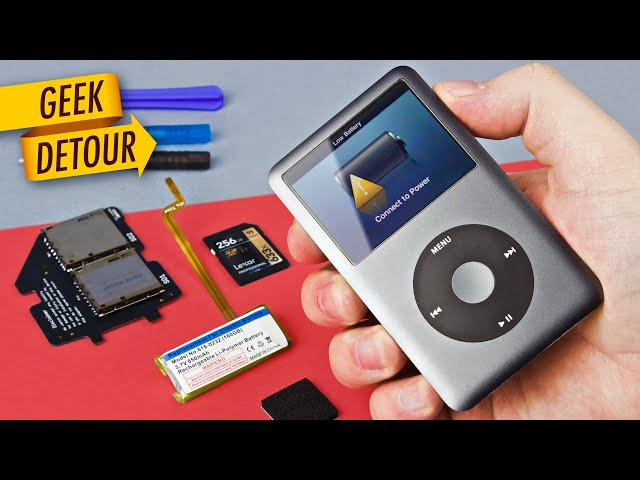 How to replace iPod battery & SD Card upgrade: 160GB iPod Classic with SSD in 2018