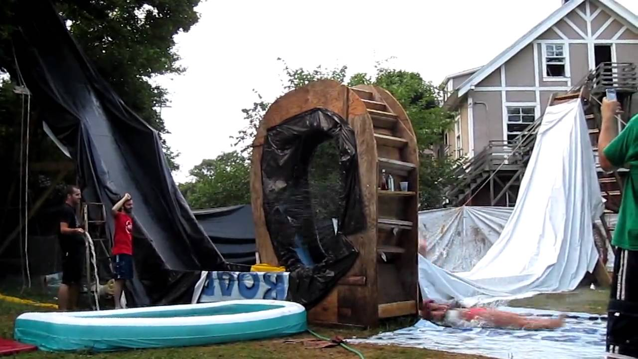 Backyard Waterslide backyard waterslide of doom - best scary waterslide in the world