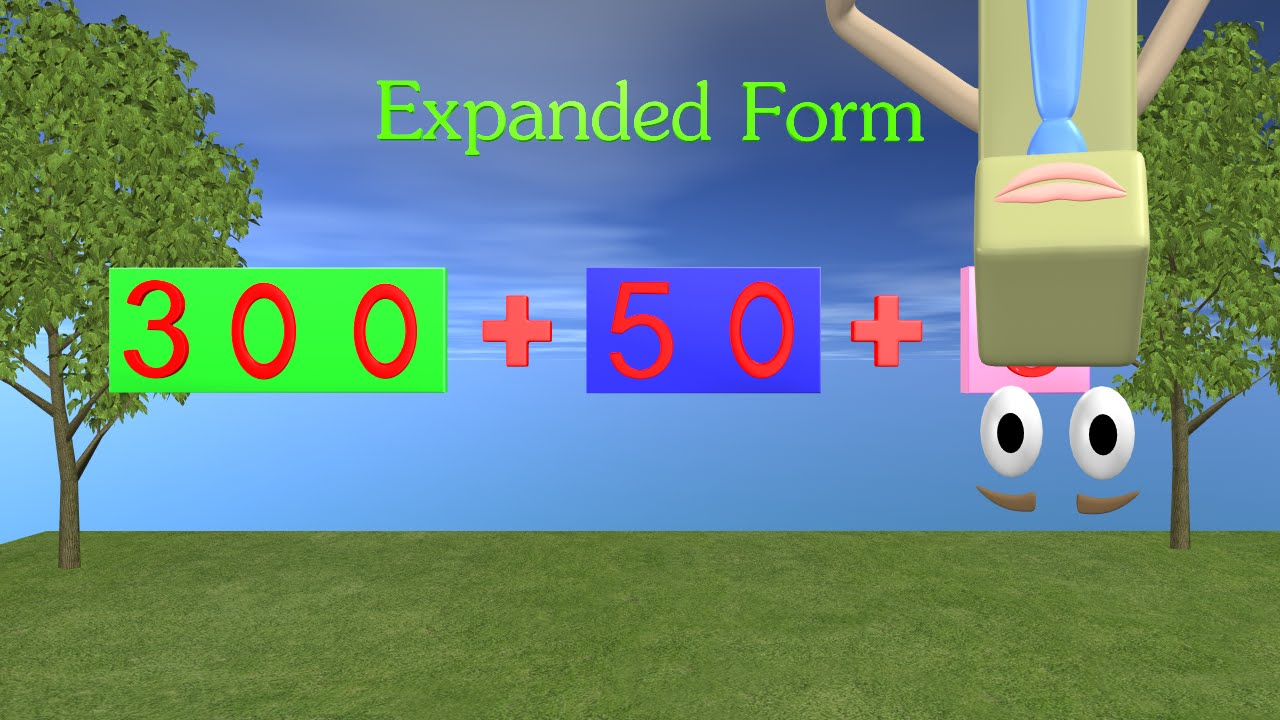 expanded form youtube  Expanded Form Video - 9st and 9nd Grade Math