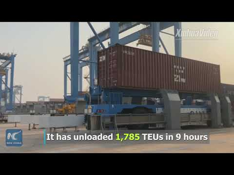 World's most efficient fully-automated port in E China