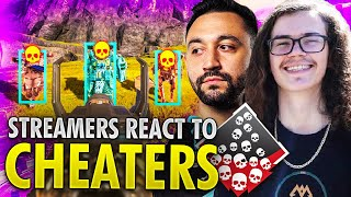 10 Minutes of Cheaters Using Aimbot In Apex Legends and Streamers' Reaction