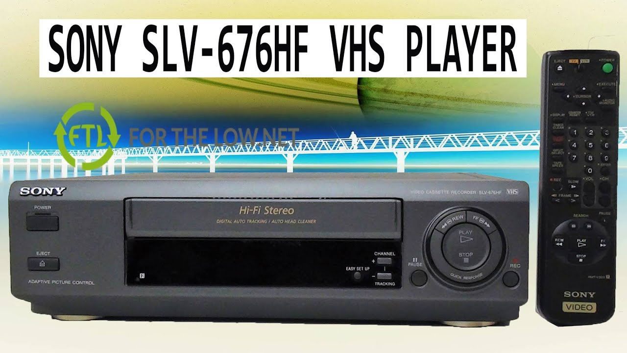Sony Vhs Player Video Cassette Recorder Slv 676hf Vcr Product Demo Youtube