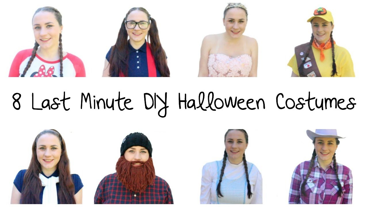 EASY DIY LAST MINUTE HALLOWEEN COSTUME IDEAS | Allie Young - YouTube