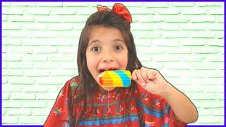 ANNY  ENGANA MAMÃE COM A MÁGICA DO SORVETES 🍦 Anny cheats Mommy with ice cream magic