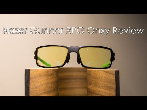 Razer Gunnar RPG Onxy Review - Gaming Glasses - YouTube