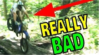 MOST SKETCHY DIRT BIKE JUMP EVER!!