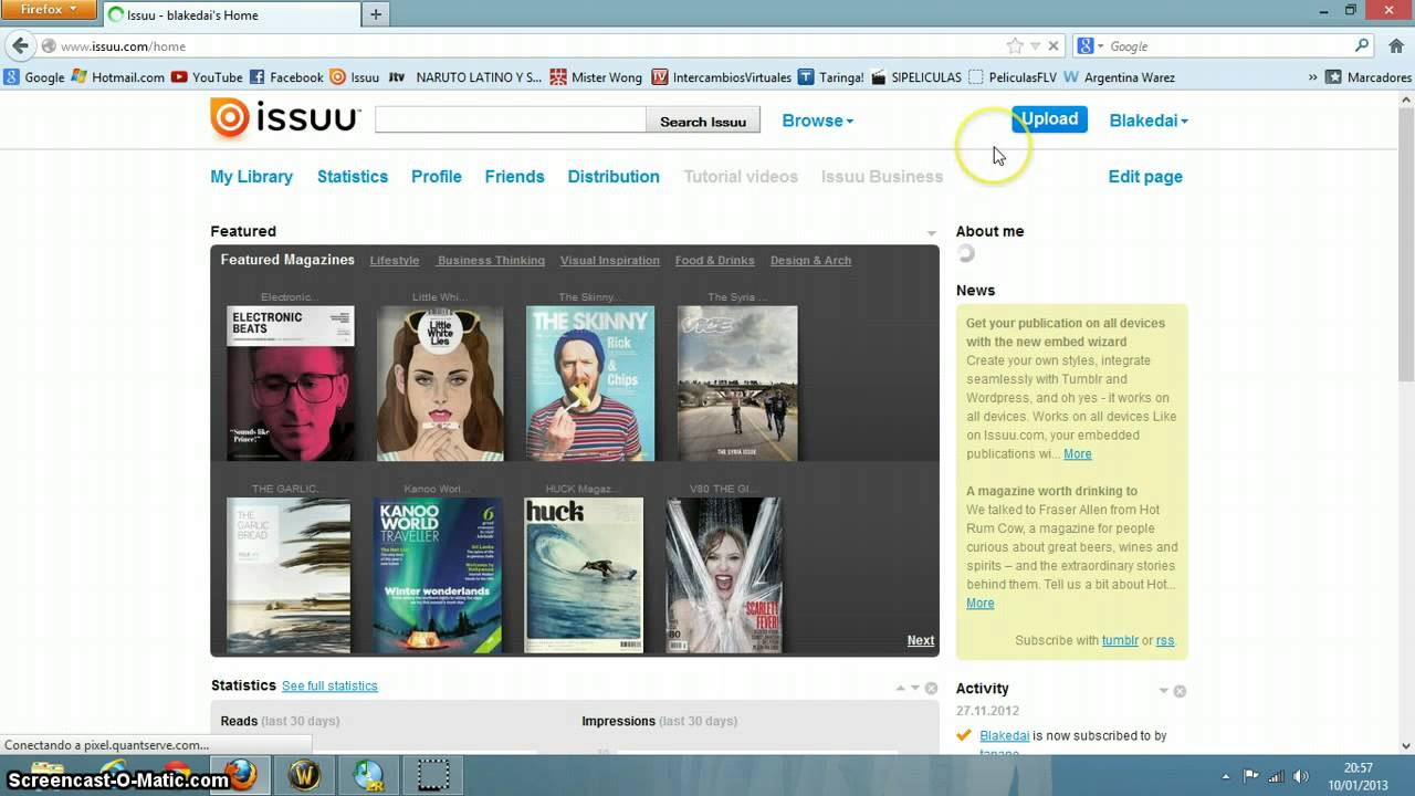Como Subir Un Archivo Pdf A Issuu Youtube