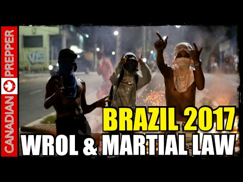 Riots, WROL and Martial Law in Brazil State after Police Strike