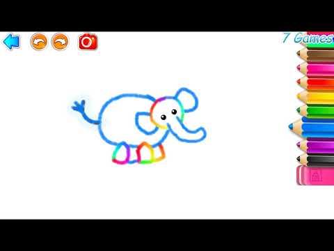 РИСОВАЛКА! Игры для малышей #3 - Painting! Games for kids.