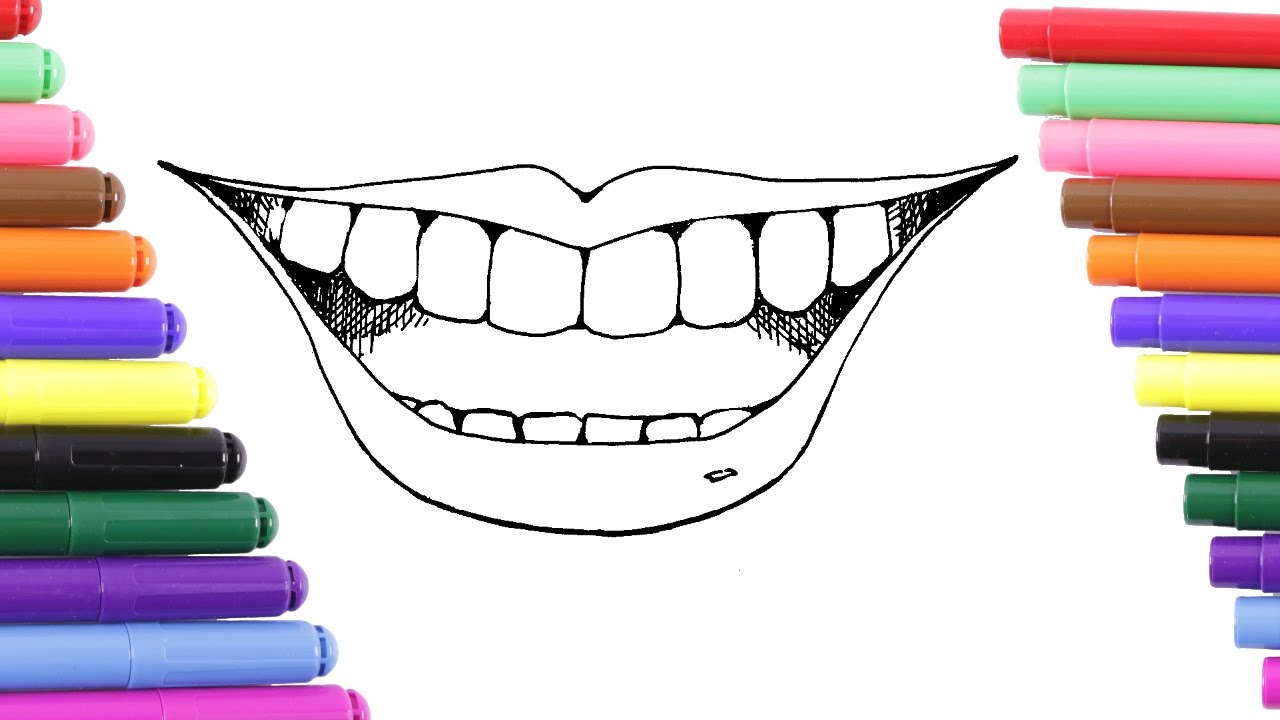 Lip Coloring Page For Kids Coloring Book Youtube