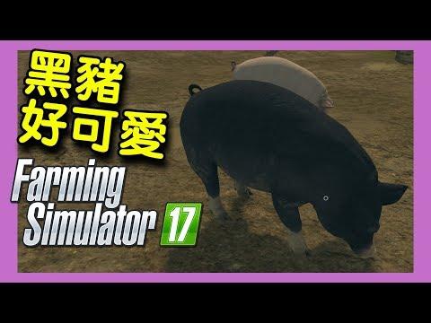 Farming Simulator 17 模擬農場17|EP.02 - 黑豬好可愛