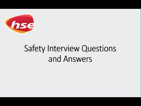 Safety Officer Frequently Asked Interview Questions