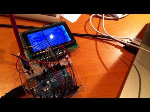Arduino Display Test (KS0108) - YouTube