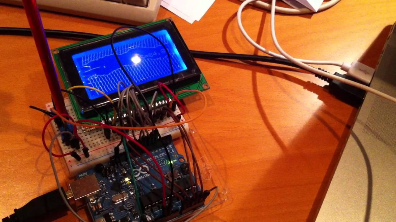 Arduino Display Test (KS0108)