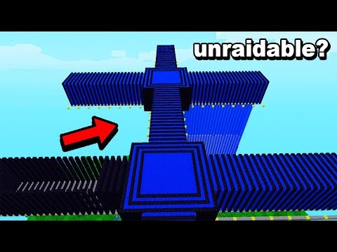 This old school Minecraft base is floating & made from Obsidian only..