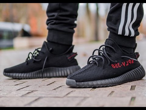 ON FEET COMFORTABLE Yeezy 350 Boost V2 RED SPLY 350 Black