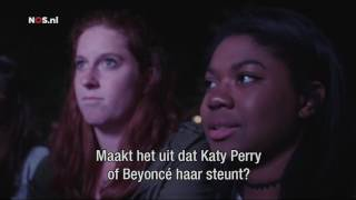 Clinton heeft Katy Perry nodig voor stem van jongeren  Nieuwsuur 2