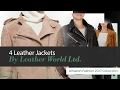 4 Leather Jackets By Leather World Ltd. Amazon Fashion 2017 Collection